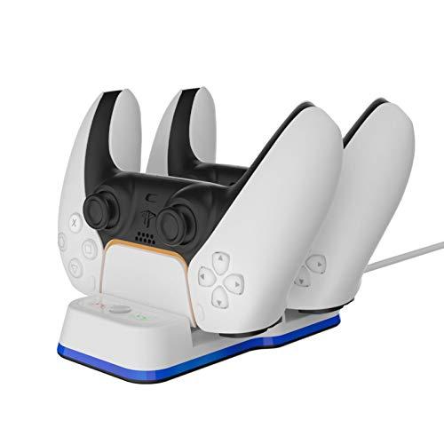 Lilon Controlador Cargador Dock LED Dual USB Charging Stand Station Cradle para...