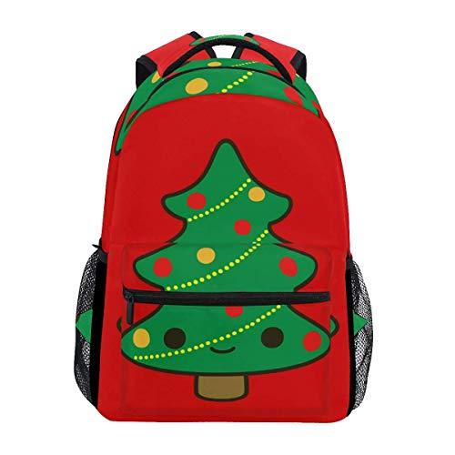 Daypacks Netter Weihnachtsbaum Haltbarer Schulrucksack Student College Bookbag Stilvolle, Einzigartige, Bedruckte Umhängetasche Reisegeschenk Leichtes Casual