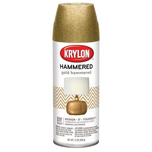 Krylon K03902000 Hammered Finish Aerosol Paint, 12 oz, Gold, 12 Ounce