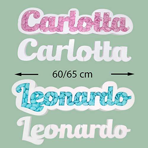 Portaconfetti polistirolo personalizzabile nome scritta personalizzata contenitore caramelle cioccolatini (8-12 lettere)