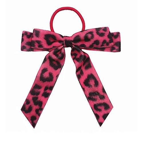 Mujeres terciopelo Scrunchie cinta arco cuerda de pelo para chica leopardo elástico banda de pelo ponytail titular de accesorios para headwear