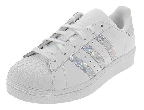 adidas Unisex-Child Superstar J Sneakers, White, 36 EU