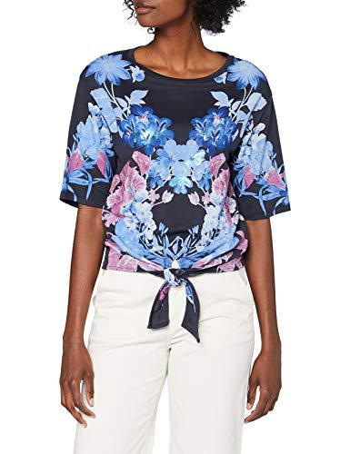 Desigual TS_Mirror Camiseta, Azul, XS para Mujer