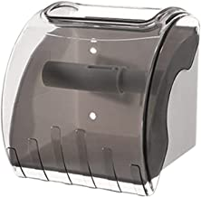 Toiletrolhouder, badkamerpapierrolhouder Toiletrolhouder voor keuken wasruimte -Transparant grijs