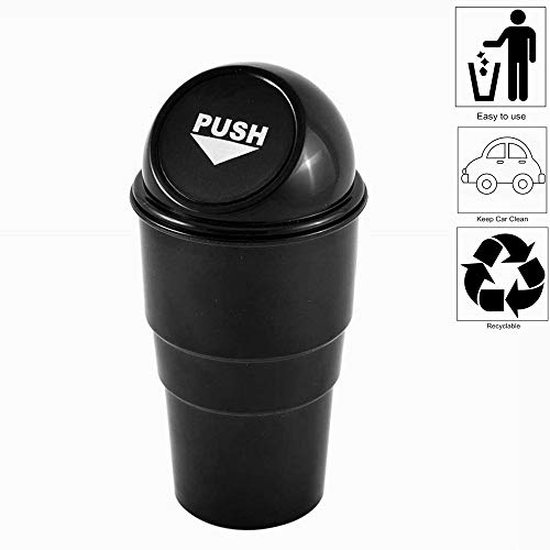 AISIBO Automotive Cup Holder Garbage Can Trash Bin Small Mini Car Trash Garbage Can for Car Office Home (1pc)