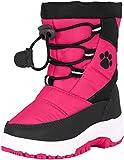 Rugged Bear Girls PAW Print Snow Boot Fuchsia Black 1