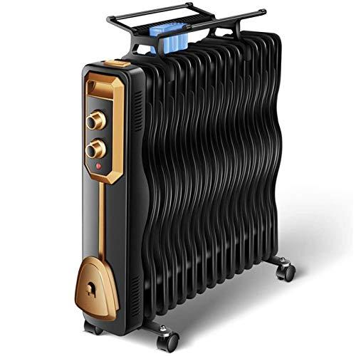 ERSHY Radiador eléctrico, calefactores de Ambiente, Calentador del radiador Ajustable con 3...