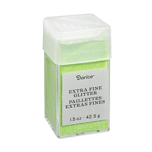 Neon Green Extra Fine Glitter 1.5 Ounces Canister w/Pour or Shake Lid