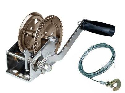 GrecoShop Verricello/Argano/Paranco a Mano/Manuale Mini 450Kg/1000lbs (cod.:3556)