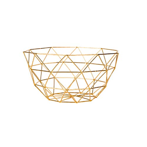 YYHSND European Geometric Frame Fruit Basket Home Living Room Kitchen Hollow Fruit Plate Two Colors Optional Fruit tray (Color : A, Size : S)
