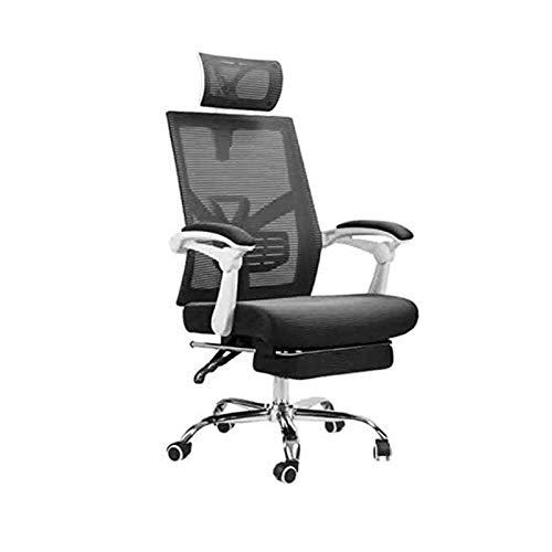 ZLQBHJ Sillas de escritorio de oficina, Las sillas ergonómicas de la oficina Oficina sillón reclinable, asiento regulable en altura, reposacabezas transpirable malla - espuma suave cojín del asiento c