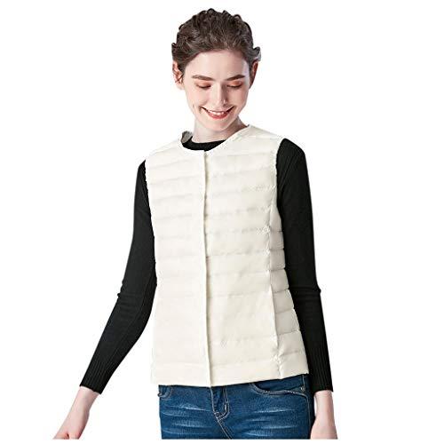 BRISEZZ donsjack dames ultralicht, warm jack vest, winterjas Ladies Puffer Jacket, softshell jacket dames waterdicht met middendik gevoerd (zwart, lichtblauw, rood, wit, M-L4)