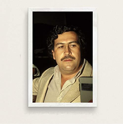 zpbzambm Frameless Wall Painting 40X50Cm - Pablo Escobar Hot Famous Painting Silk Art Canvas Wall Poster Home Decor Zp-1426