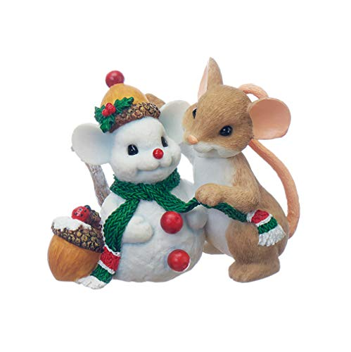 Roman - Charming Tails Collection, Time to Make Friends, Snowman Figure, 2.5' H, Resin and Stone, Durable, Collectibles, Cute Decorative Figurine