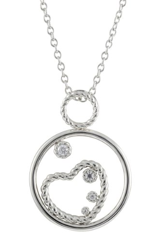Merii Damen-Collier 925 Sterlingsilber rhodiniert Zirkonia weiß