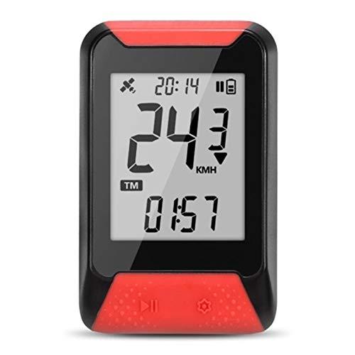 ZDAMN Odómetro de Bicicleta 2.0 '' Pantalla 130 Smart GPS Computer Cycling Fix Fix en el Manillar o el Soporte de la computadora de la Bicicleta Cuentakilómetros (Color : Red, Size : One Size)