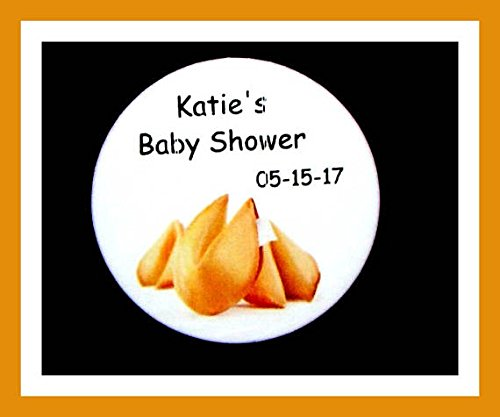 Personalized Fortune Cookie Button Pin Baby Shower Favors Button/Pin - 2.25' - Set of 10