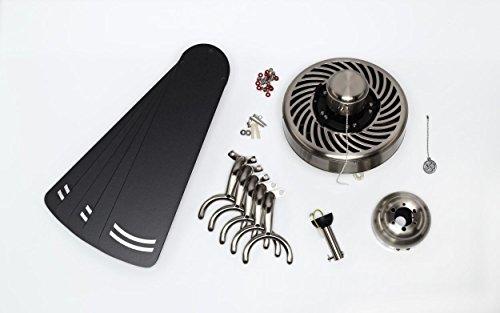 Stahl / Metall Deckenventilator Bild 3*