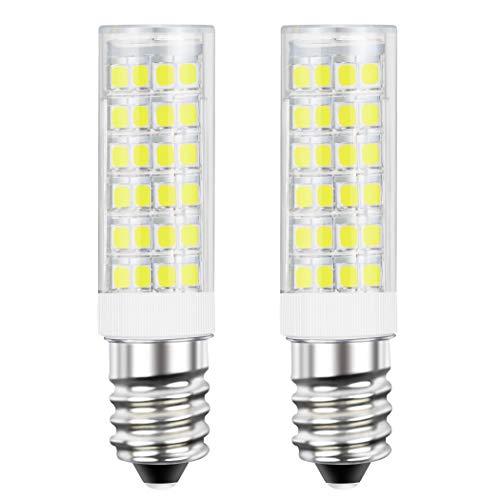 DiCUNO E14 LED Birne 5 W (50 W Halogen Äquivalent), 550LM, Kaltweiß (6000K), 220-240V, Maiskolben Led Mais Birne,Nicht dimmbar, Kühlschranklampe/Wandlampe/Tischleuchte, 2P