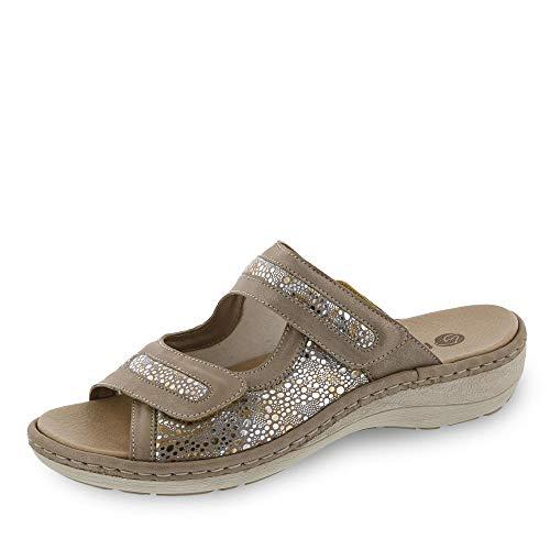 Remonte Damen D7639 Sandale, altgold/metallic-Flower / 90, 38 EU