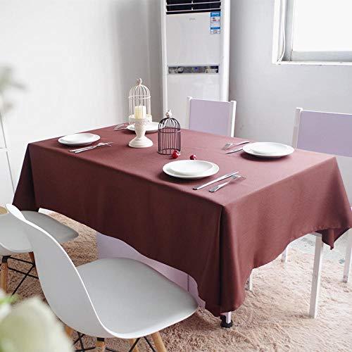 Haoxp multifunctionele tafelkleden, festivals, feesten, alle soorten locaties kunnen worden gebruikt, picknickmat, salontafel, tafelkleed, waterdicht en anti-fouling, bruin, 140 x 200 cm