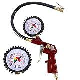 Shiningeyes Tools Gonfleur de pneus 3 en 1 Air comprimé, manomètre pour pneus Plage de Pression de 0 à 12 Bar