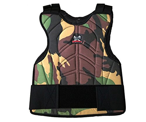 Maddog Padded Paintball & Airsoft Chest Protector (Reversible Woodland Camo/Black)