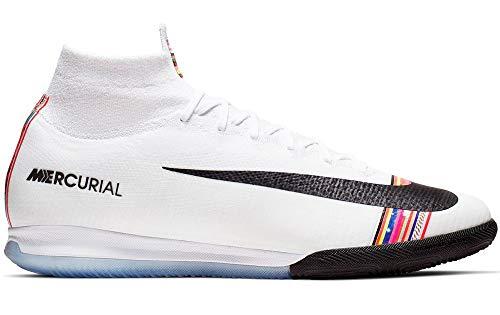 Nike Superfly 6 Elite IC - Zapatillas de fútbol para Interiores (Platino/Negro-Blanco)