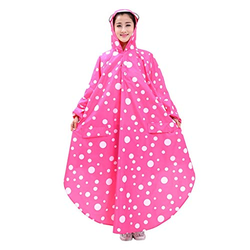 ZYDSD Impermeable, Manga Larga, Impermeable, PVC, Gran Sombrero, Hombres y Mujeres, Coche...