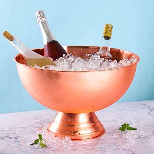 YXZN Resistente Ciotola per Secchiello per Il Ghiaccio in Acciaio Inossidabile - Raffreddatore per Champagne in Metallo 13,5 Litri di Grande capacità - Adatto per Birra, Cocktail Party
