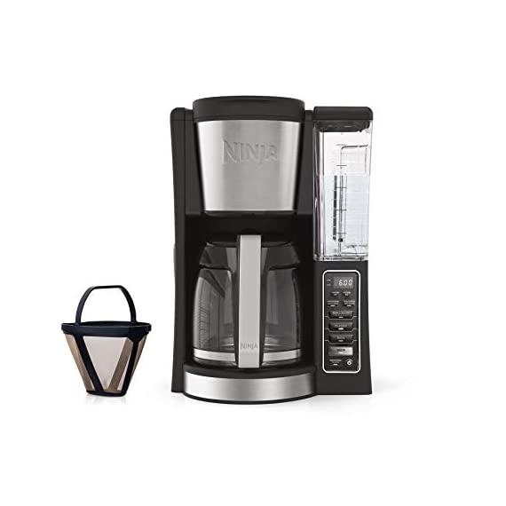 Ninja 12-Cup Programmable Coffee Maker with Classic and Rich Brews, 60 oz. Water Reservoir, and Thermal Flavor… 1 Hotter brewing technology: Advanced boiler for a perfectly hot cup of coffee Wake upto hot coffee 24 hour programmable delay brew allows you to prepare your brew upto a day in advance Keep coffee fresh and flavorful upto 4 hours with the adjustable warming plate