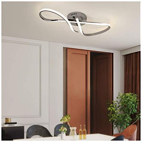 HIGHKAS Lámpara de Techo LED, iluminación Art Deco Creativa de Aluminio para Sala de Estar, Estudio, Dormitorio, Cocina, Comedor, Pasillo, Elegante Remolino