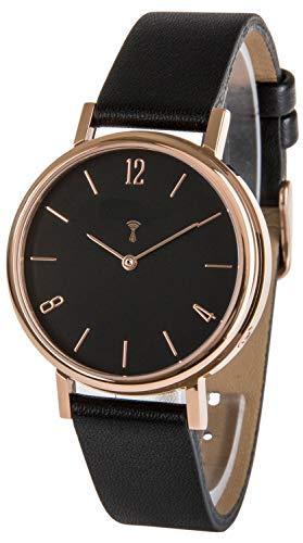 Funk-Armbanduhr Damen, mit Leder-Armband