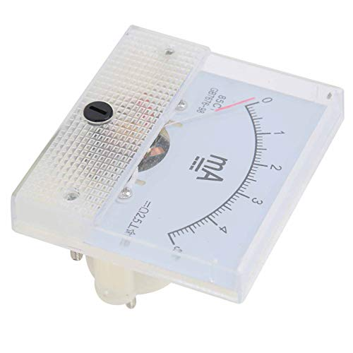 Mothinessto Medidor de Panel Visible Cearly Instalación integrada 0~5MA Medidor de Corriente CC Hermoso y Generoso Equipo eléctrico para el Sistema de distribución de medición de Corriente