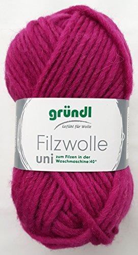 50 Gramm Filzwolle, Wolle filzen + Stricken, uni Farbe 19