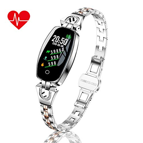 TMYIOYC Fitness Tracker, Smart Bracelet for Women, Health & Fitness Smartwatch with Heart Rate, Blood Pressure, Pedometer, Message Notification, Workout Activity Tracker, Sleep Monitor Fitness Watches