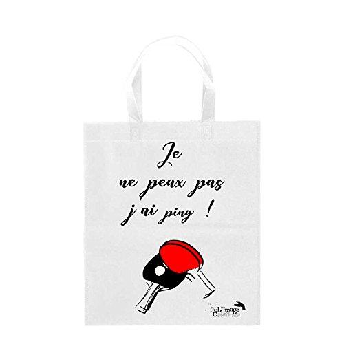 Sublimagecreations Tote Bag Je ne Peux Pas, J'Ai ping, idée Cadeau Humour, Sac Course, idée Cadeau, Sac Shopping, cabat