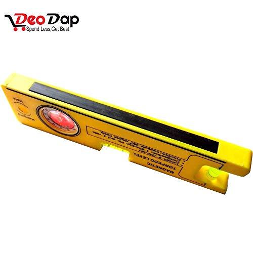 Urban Horizon Metal Magnetic Torpedo Level Set (Yellow, 8-inch)