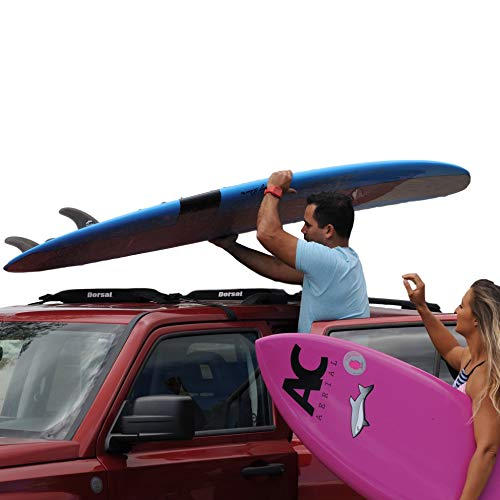 DORSAL Wrap-Rax Soft Surfboard Roof Rack, Universal Fit for Cars and SUVs