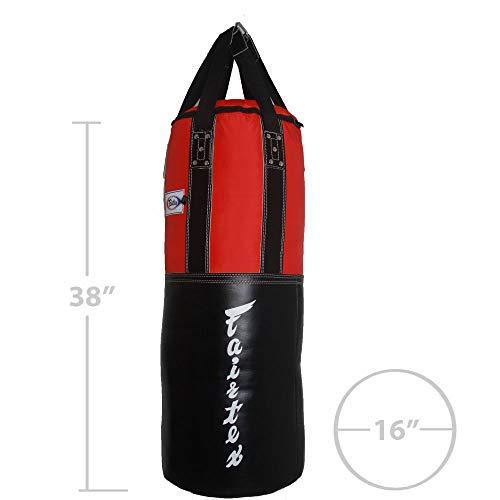 Fairtex Leather Nylon Extra Wide Heavy Bag, Black/Blue
