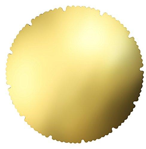 Zenker 43523 Tortenunterlagen, Papier, gold, 6 Einheiten