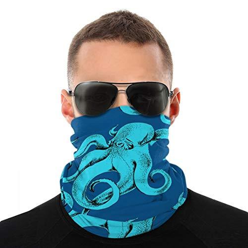 Octopus Neck Gaiter Scarf, Face Mask Headwear Sunscreen Breathable Bandana for Men Women Work Cycling Hiking Fishing