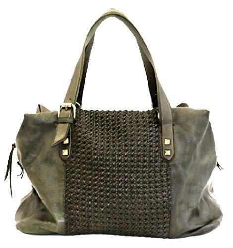 BZNA Bag Serena grün Italy Designer Damen Handtasche Ledertasche Schultertasche Tasche Leder Shopper Neu