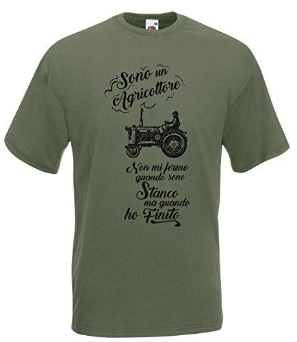 Settantallora - T-Shirt Maglietta J2158 Sono Un Agricoltore Orgoglio Contadino Taglia XL