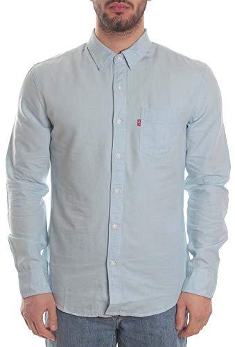 Levi's Sunset 1 Pkt Slim Camisa, Azul (Pale Shade Indigo Tencel Rinse 0005), Medium para Hombre