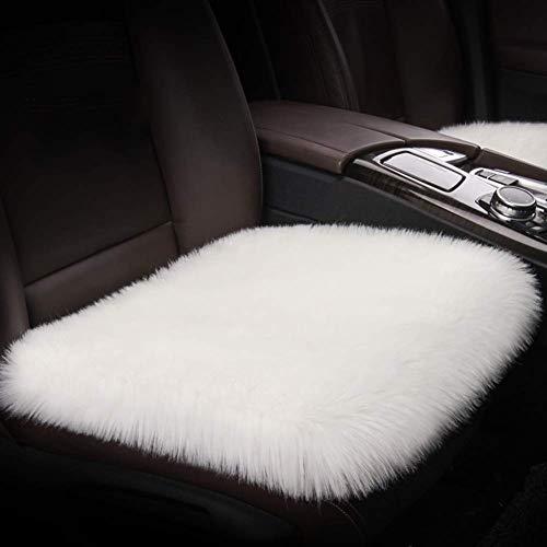 HEWEI pluche auto voorstoel kussen ademend auto zitkussen schapenvacht Fit langs de zitting wol Universal Car-C warm kussen 52x50cm (20x20inch) 52x50cm(20x20inch) A