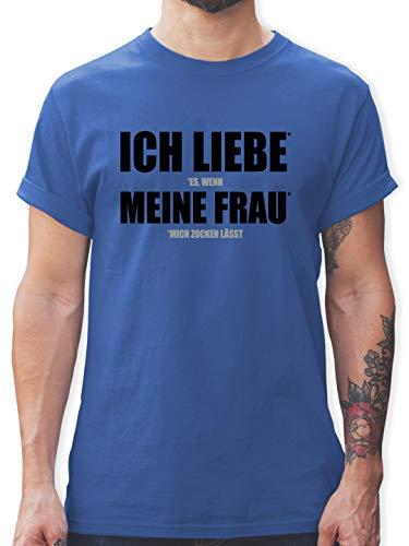 Nerds & Geeks - Ich Liebe Meine Frau - L - Royalblau Tshirt ich Liebe Dich für männer - L190 - Tshirt Herren und Männer T-Shirts