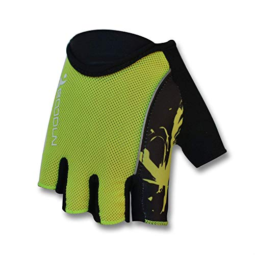 Angebot Fahrrad-halbe Finger-Perspektive Silica Männer Reiten ein Fahrrad ausgestattet mit Zubehör Handschuhe (Farbe: fluoreszierend grün, Größe: L) ZHANGKANG