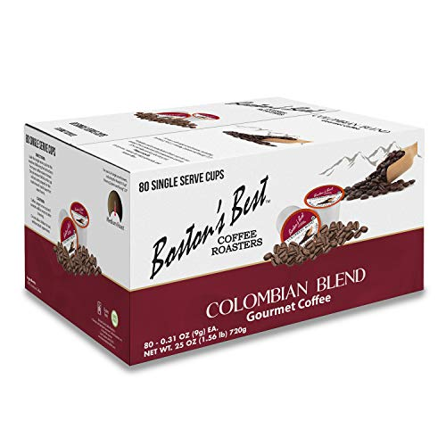 Boston's Best Coffee Roasters - Colombian Blend - Medium Roast 100% Arabica Coffee - 80 Single Serve Keurig-Compatible K-Cup Pods