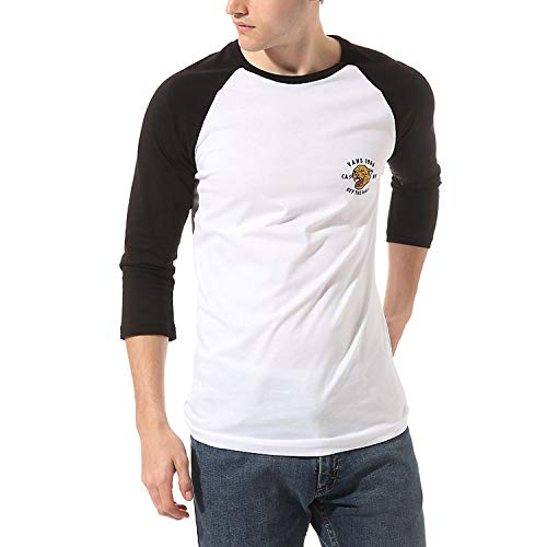Vans Men's Growler Raglan T-Shirt White/Black-XL